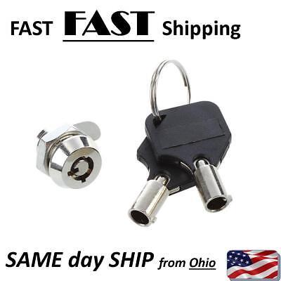Small Cabinet Door Quarter Turn Security Tubular Cam Lock Key Set