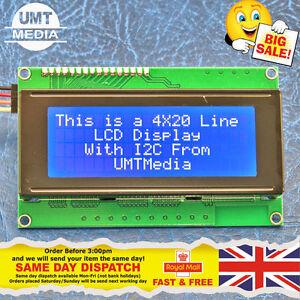IIC-I2C-TWI-modulo-LCD-de-pantalla-de-caracteres-2004-20X4-para-Arduino-Azul-Serial