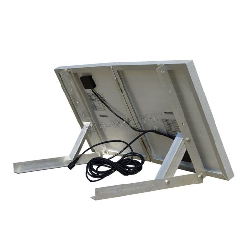 30W Folding Solar Panel 25W 12V Fan Attic Extractor Ventilation Roof Vent H