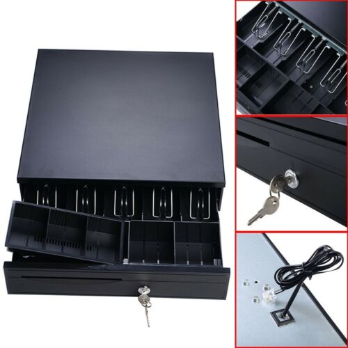 Cash Register Drawer Box 5 Bill Tray Under Counter Epson Pos Printers Compatible