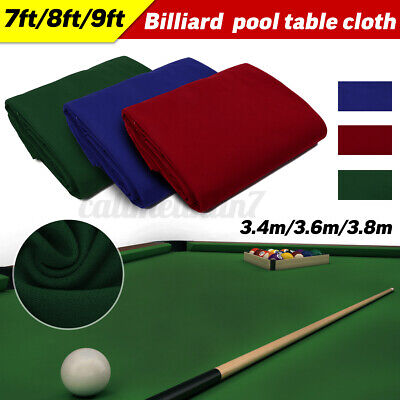 Worsted Wool+Nylon Billiard Pool Table Cloth Cover Felt Accessories For 7/8/9 FT