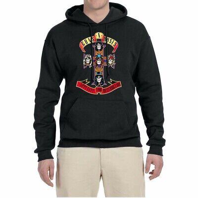Men Hoodie Sweatshirts Guns N' Roses Cross Sweater Jacket Coat Hooded Pullover Hoodie Mens Black Guns