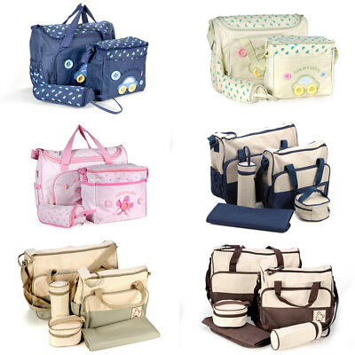 Baby Nappy Diaper Changing Bag Handbag Bottle Holder Change Mat Mummy Bag Diaper Baby Bag Purse