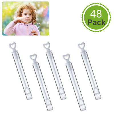 48PCS Wand Bubble Blower Maker Kid Toy Wedding Party Decor Camping Outdoor (Wedding Bubble Wands)