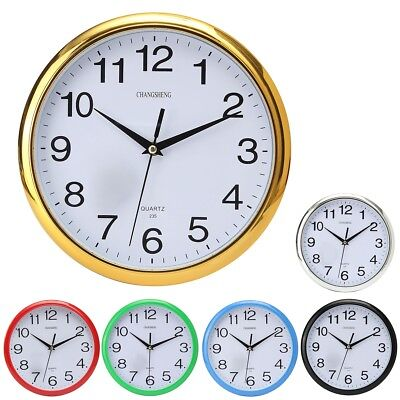 Large Vintage Round Modern Home Bedroom Retro Time Kitchen Wall Clock Quartz ()