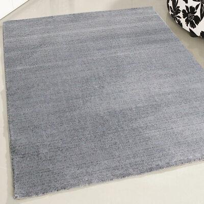Grey Modern Living Room Soft Thick Rug Large XLarge Contour Cut Versace Design