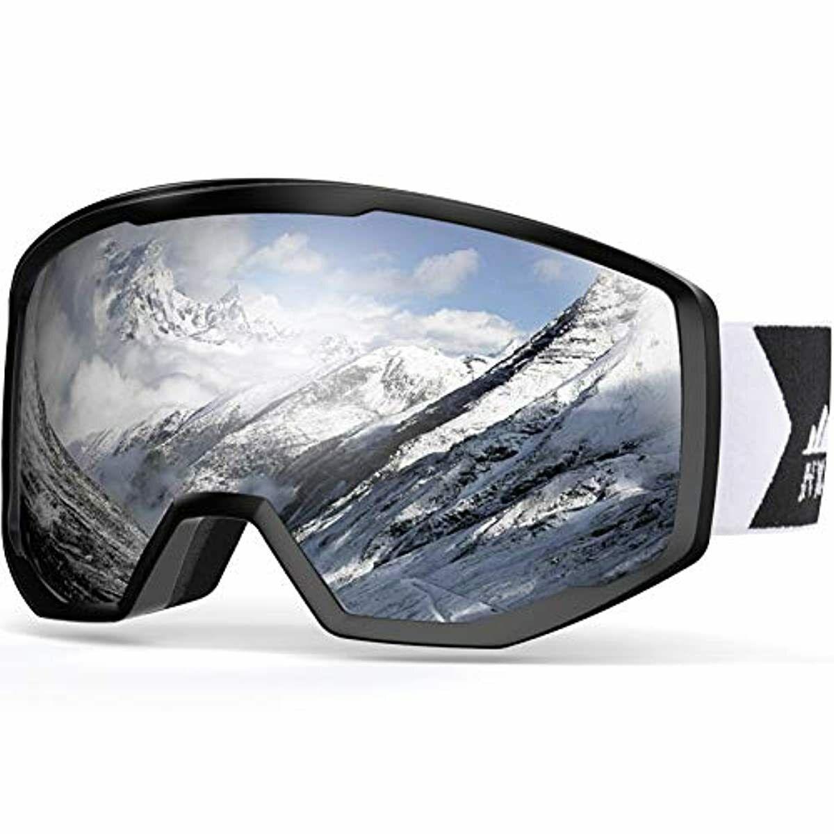 NXONE Ski Goggles for Men and Women, Anti-Fog Over Glasses S