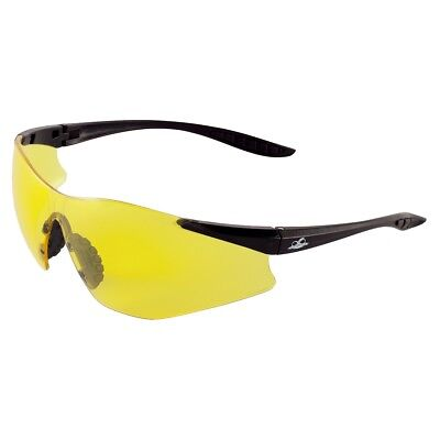 Bullhead Snipefish Safety Glasses With Yellow Anti-fog Lens Black Temples