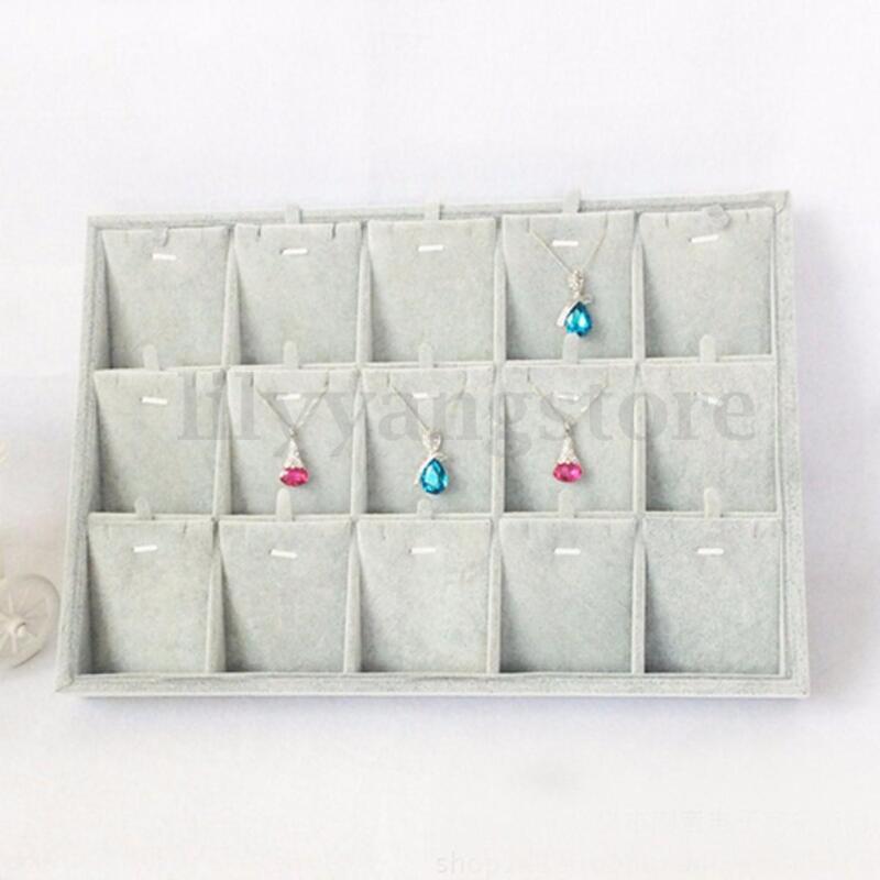 Velvet Necklace Chain Pendant Case Display Jewelry Rack Organizer Stand Holder