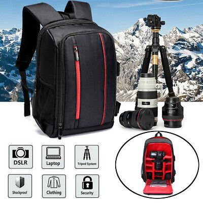 16'' Waterproof DSLR Camera Backpack Shoulder Bag Case For Canon Laptop Lens