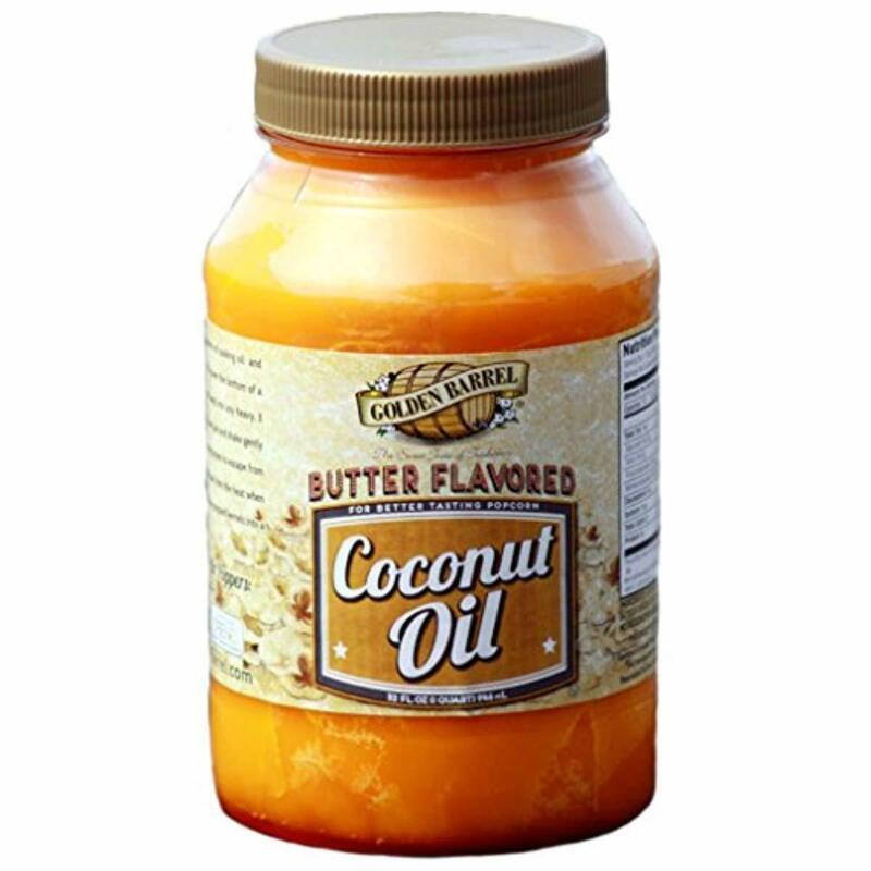 Golden Barrel Butter Flavored Coconut Oil 32 Oz Butter Baking or Making Popcorn