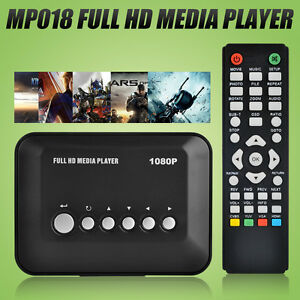Full HD Multi Media Player HDMI 1080P Video YPbPr USB AV SDHC MKV RM RMVB AVI