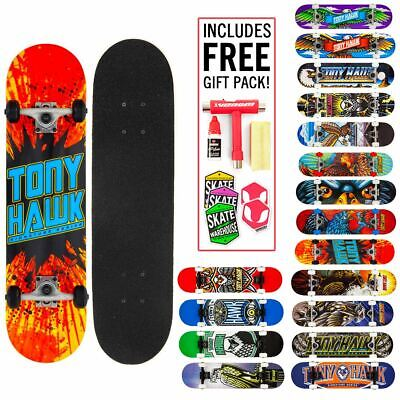 "Tony Hawk Complete Skateboards BEGINNER-ADVANCED Adult/Boys/Girls 7.5""/7.75""/8"""