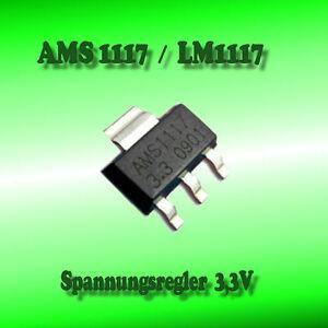 2 Stück AMS1117 3.3V Spannungsregler  SOT-223