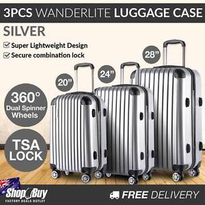 Brand New: 3PCS Travel Luggage Set Hard Shell Super Lightweight Baulkham Hills The Hills District Preview