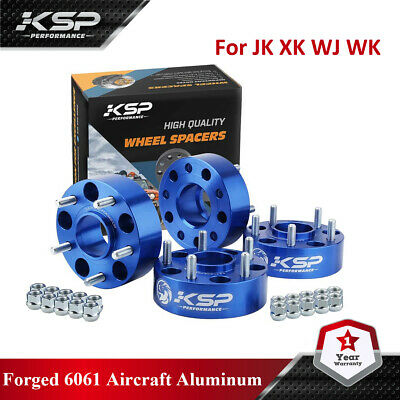 "(4) 2"" Hubcentric Wheel Spacers fits Jeep JK JKU Wrangler Grand Cherokee"