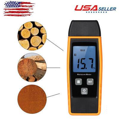 080 Digital Wood Moisture Meter Humidity Tester Timber Damp Detector Us J5g9