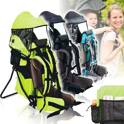 Rückentrage + Regen Sonnendach Kind Baby Trage Hilfe Tragetuch Hüftgurt Carrier