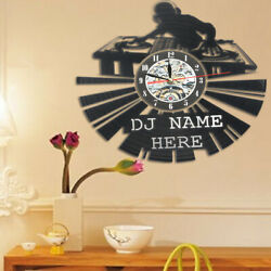 US DJ Disco Vinyl Record Wall Clock Wall Art Antique Room Decora Great Gift Idea
