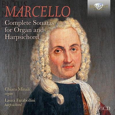 (MARCELLO:COMPLETE SONATAS FOR ORGAN & HARPSICHORD - MINALI,CHIARA  3 CD NEW+)