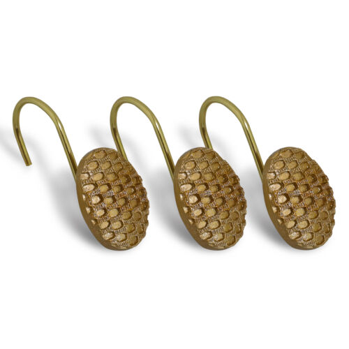 Popular Bath Chateau Bathroom Shower Curtain Hooks- Bronze Bath