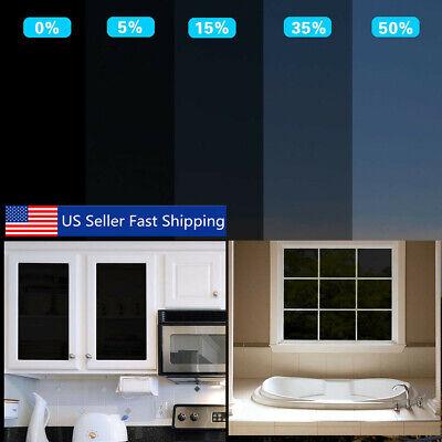 "60X20"" Black Privacy Tint Window Film Glass Door Stickers 0% 5% 15% 35% 50%  B Home & Garden"