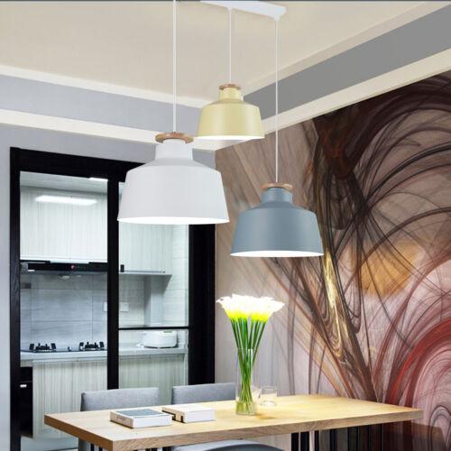 Modern Pendant Ceiling Light Simple Fixture Lamp Wood Hangin
