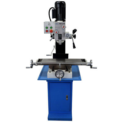 Pm-727-m Vertical Bench Top Milling Machine Wstand Geared Head Free Shipping