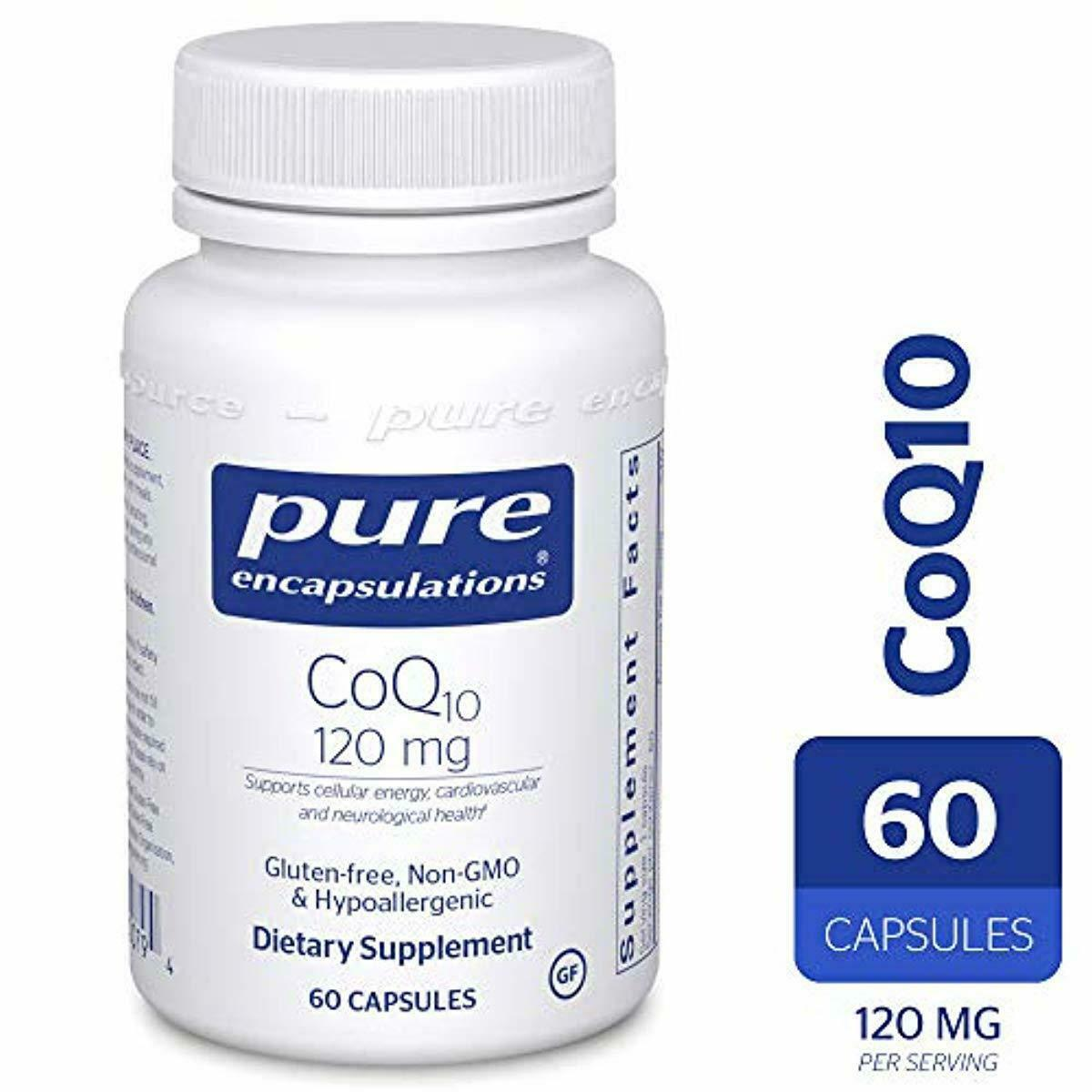 Pure Encapsulations - CoQ10 120 mg - Hypoallergenic Coenzyme