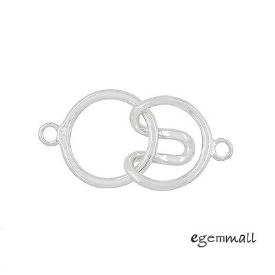 Sterling Silver 1-Strand Round Hook and Eye Clasp #99581