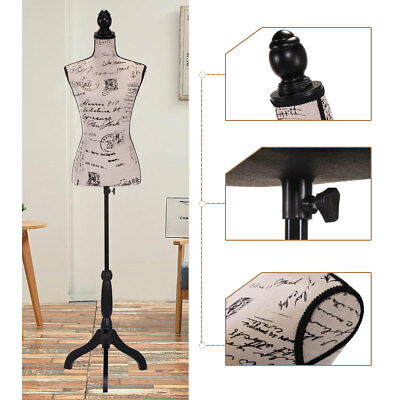 Female Mannequin Torso Clothing Dress Form Display Beige Tripod Stand New