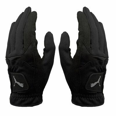 Puma Golf Mens Cold Grip Golf Gloves - Pair - Black - S