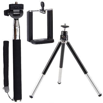 Kit Selfie Monopiede + Adattatore SmartPhone + TREPPIEDI CAVALLETTO Per Fujifilm