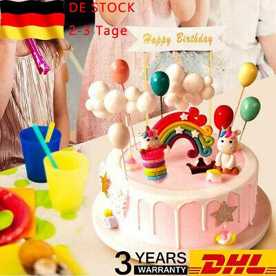 Tortendeko Geburtstag Kuchen kinder Einhorn Kuchen Topper 16er Set einsch