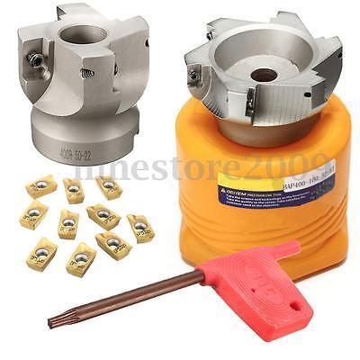 50mm 2 Face Milling Cutter Cnc End Mill Bap400r-50-22-4f 10x Apmt1604