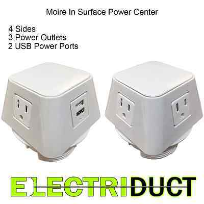 Moire In Surface Power Usb Charging Center - White - Elec...