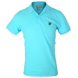 Lyle & Scott Men's Green Eagle KB675 Club Cotton Plain Golf Polo Shirt
