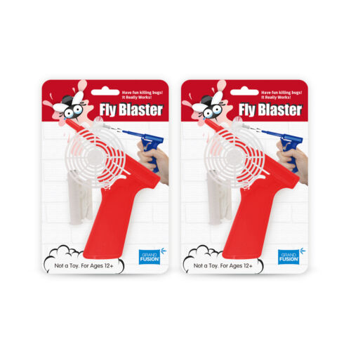 2 Pack Set Red Fly Blaster Bug Gun Fly Swatter Fly Gun Fly Shooter Grand Fusion