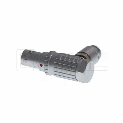 Compatible Lemo Fhg 0b 2 3 4 5 6 7 9 Pin Right Angle Elbow Male Connector Plug