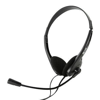 Headset PC Stereo 3,5mm Klinke Kopfhörer mit Mikrofon Laptop Computer Chat Video