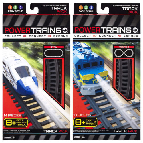 New Power City Trains Oval or Figure 8 Track Pack 8+ Feet 14 PCS Age 4+