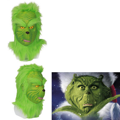 Grinch Cosplay Helmet Costume Prop Mask How the Grinch Stole Christmas Halloween