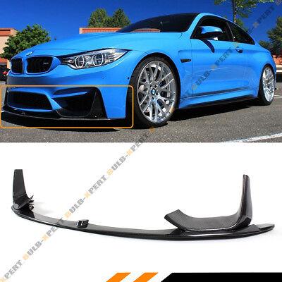 For 15-19 BMW M3 M4 Carbon Fiber 3pcs Front Bumper  Lip Spoiler W/ Splitters Kit