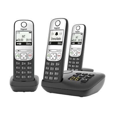 Gigaset A690A Trio DECT/GAP Telefon 3er-Set analog Anrufbeantworter 1045596