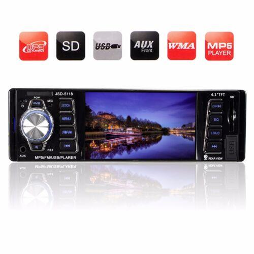 4.1'' Car Bluetooth Stereo Audio Radio In Dash MP3 MP5 Player FM/USB/AUX/SD