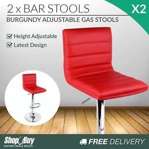 Free Delivery: 2 x PU Leather Backrest Kitchen Bar Stool Cafe Sw Box Hill Whitehorse Area Preview