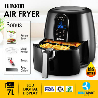 Power Electric  Air Fryer Xl 5 3Qt Oil Less 1800 Watts Low Fat Digital Touch Lcd