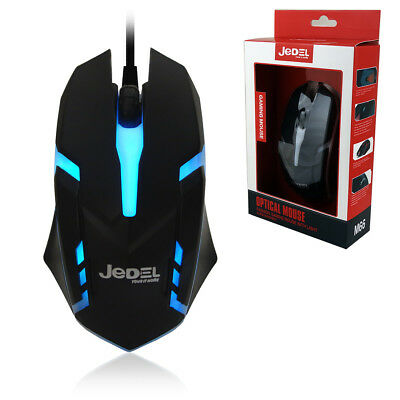 JEDEL Gamer Colour LED USB Wired Pro Gaming Mouse Adjustable Weight