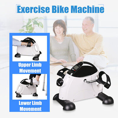 - LCD Mini Pedal Exercise Bike Cycle Fitness Hand Foot Indoor Physical Therapy