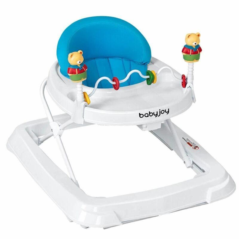BABY JOY Baby Walker, Foldable Activity Walker Helper with Adjustable Height, Ba